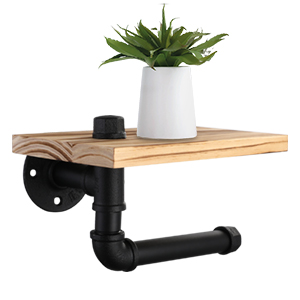 300 300 3 pipe toilet paper holder with shelf