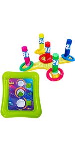 2 Sets Inflatable Pool Toss Game Combo Set