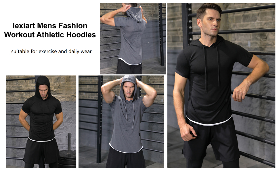 Mens Fashion Casual Workout Athletic Hoodies