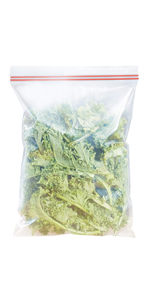 APQ Pack of 100 Clear Freezer Food Double Zipper Bag