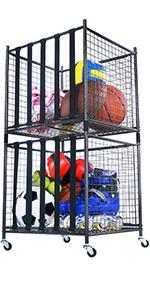 Ball storage bins