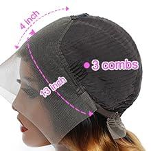4 COMBS WIG CAP