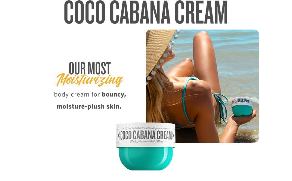 Coco Cabana Cream: Our most moisturizing body cream for bouncy, moisture plush skin.
