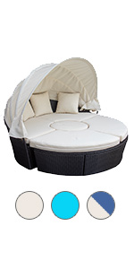 Round Outdoor Daybedoutdoor daybed