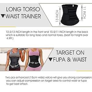 waist trainer for women long torso