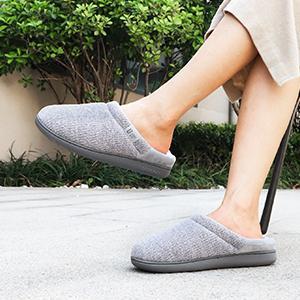 LongBay Women's Chenille Memory Foam Slippers