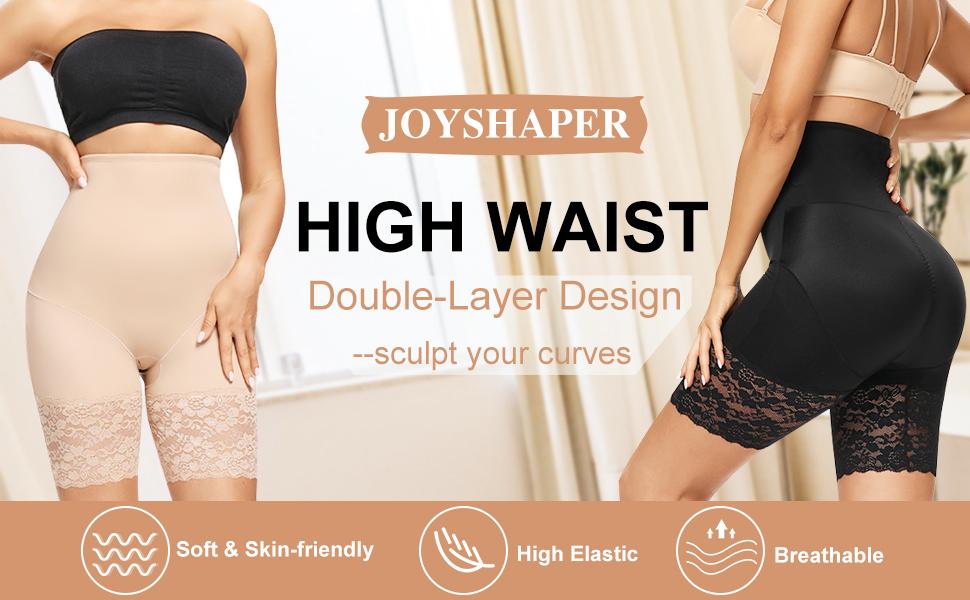 lace high waist mid thigh shapewear tummy control shorts seamless underwear