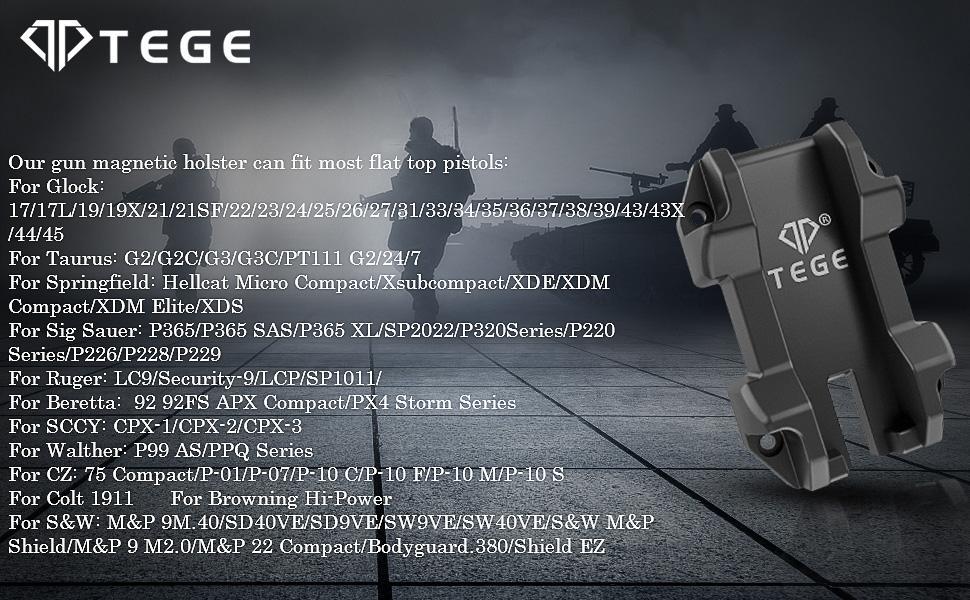 TEGE Pistol Magnetic Holder