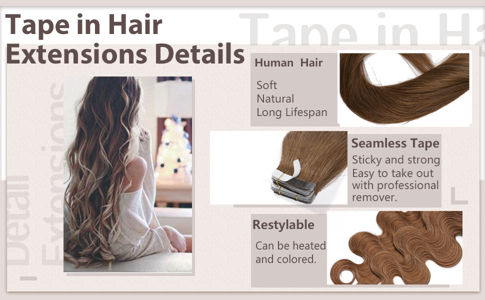 Tape in Hair Extensions Details