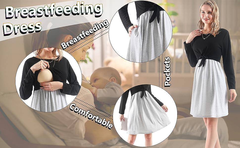 nursing dress breastfeeding
