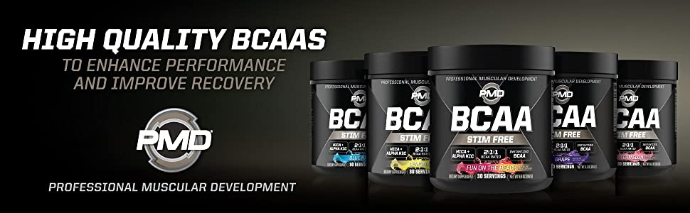 Five delicious flavors of Stim Free BCAAs for improved recovery