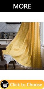Yellow Window Curtain Panels