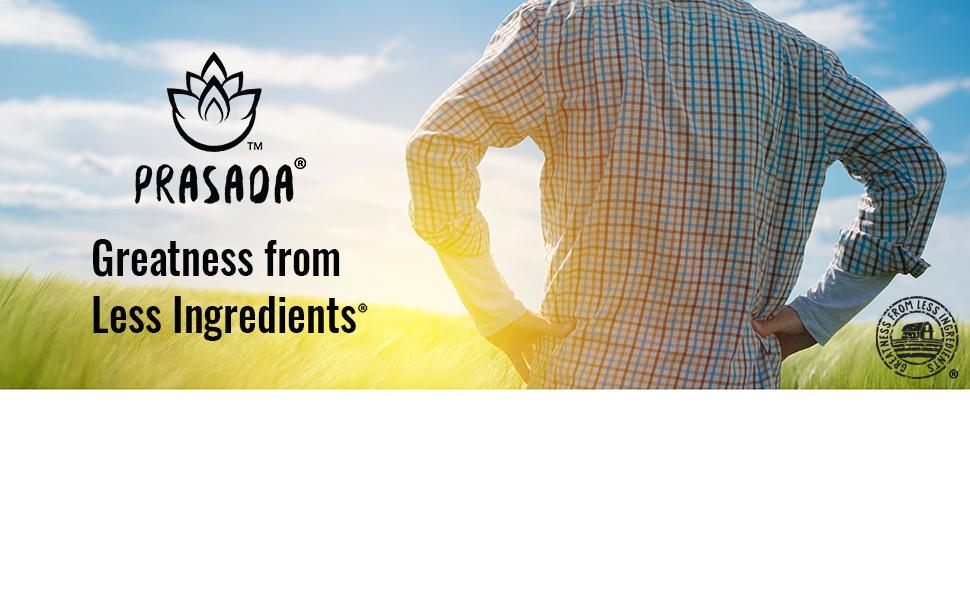 Prasada, Greatness from less ingredients. Farmer looking out at field