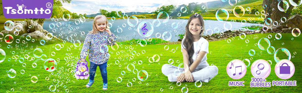 tsomtto bubble machine for kids