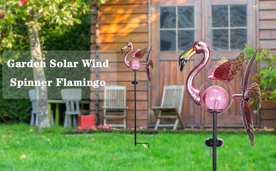 solar flamingo spinner