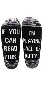 Gift Game Lover Gift Funny Gamer Socks Video Games Day Gift Shooting Game Fan Socks