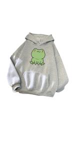 Women's Skateboard Frog Pullover Hoodie