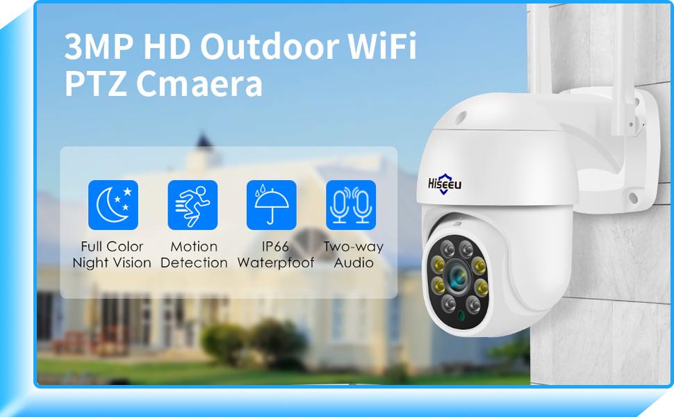Hiseeu Outdoor PTZ camera