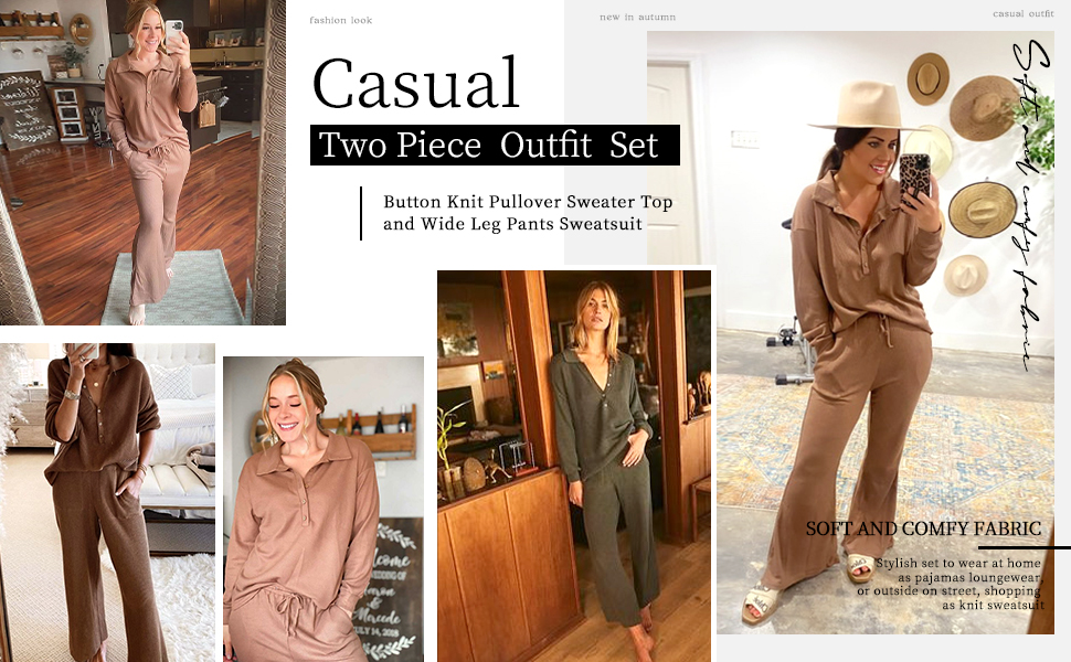 Women's 2 Piece Outfit Set