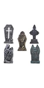 5 Pack Cross Foam Tombstone