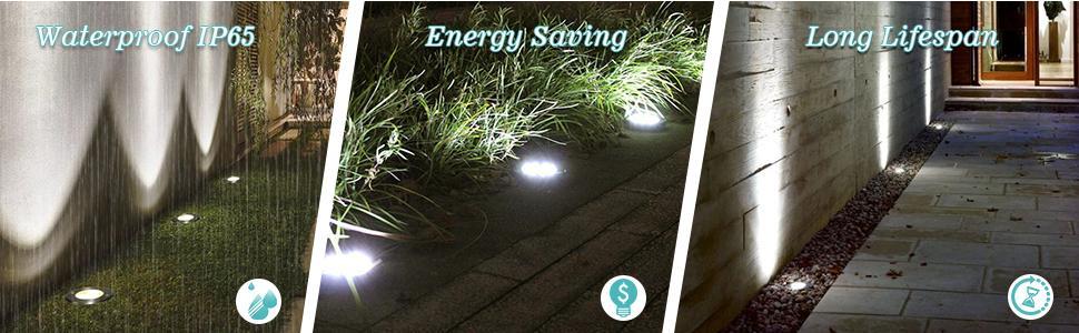 KENESCALR LED IN GROUND LIGHTS OUTDOOR