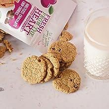 Vegan chocolate chip cookie snack