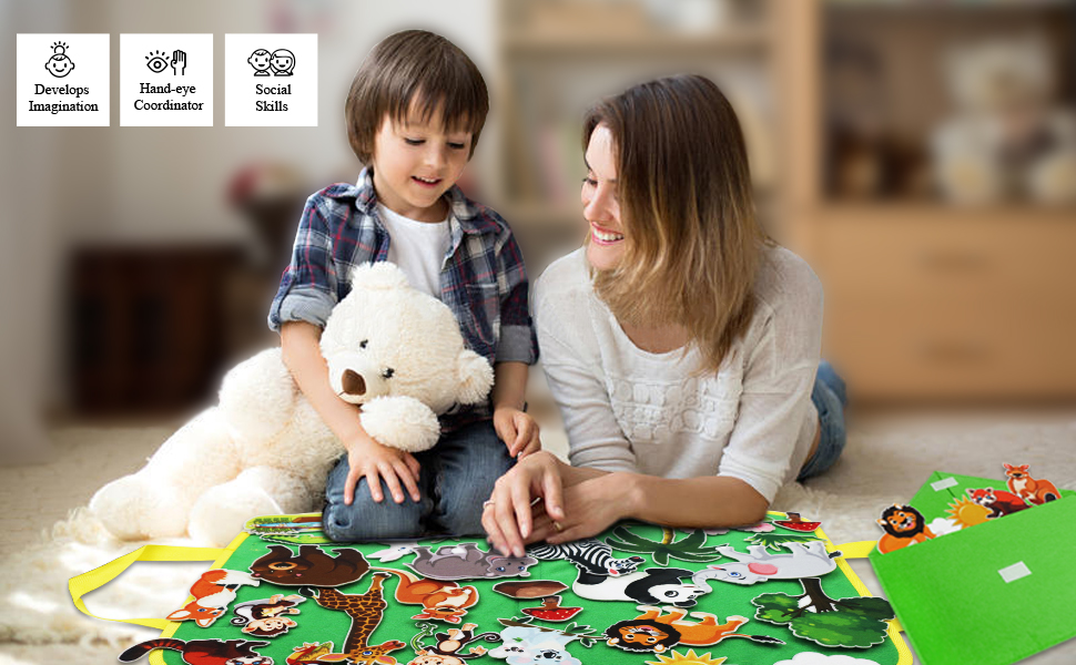 Jungle Animals felt board for toddlers kids