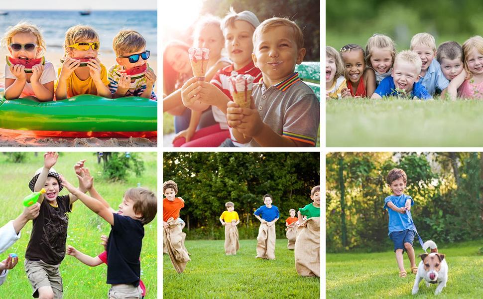 little boys happy summer time