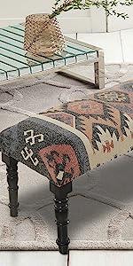 southwestern, bench, furniture, decor, accent, aztec