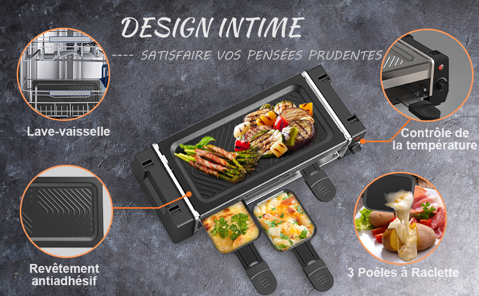 raclette grill intimate design