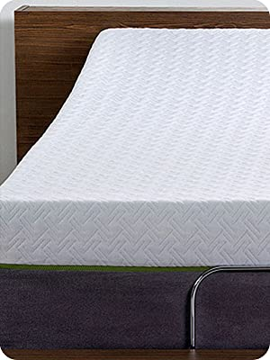 Memory foam mattress for adjustable bed frames with copper infused foam for queen or king mattress