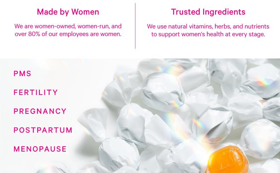 Pink Stork Sweets, PMS, Fertiltiy, Pregnancy, Postpartum, Menopause