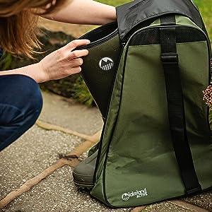 Waterproof walking boot wellie bag oakfield hiking tough waterproof car boot travel carry storage