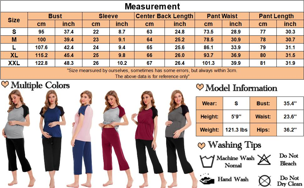nursing pjs sets