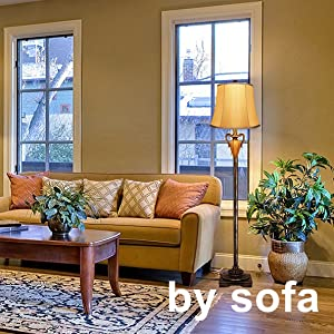 by sofa