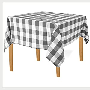 Square Buffalo Check Tablecloth - Plaid Tablecloth Square - Buffalo Plaid Table Cloth Square