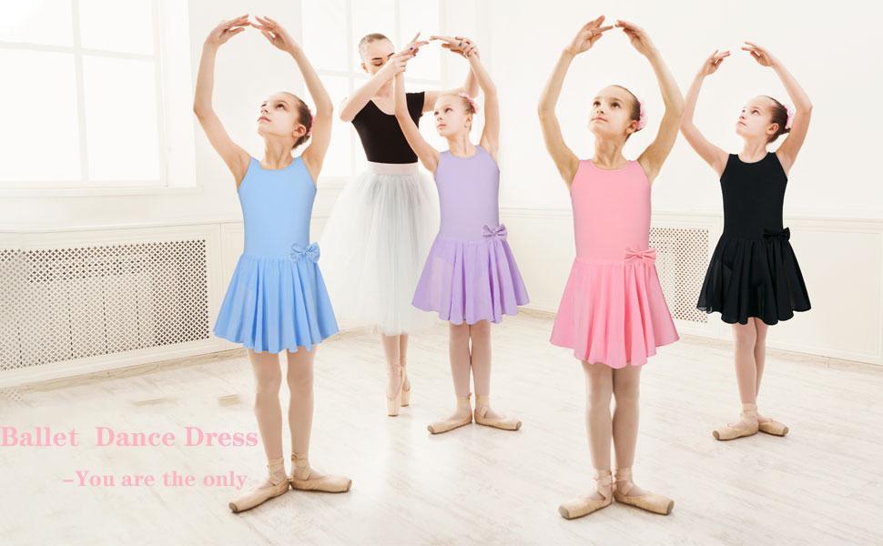 ballet dress ballerina dance outfit for toddler girls dance leotard with tutu skirt