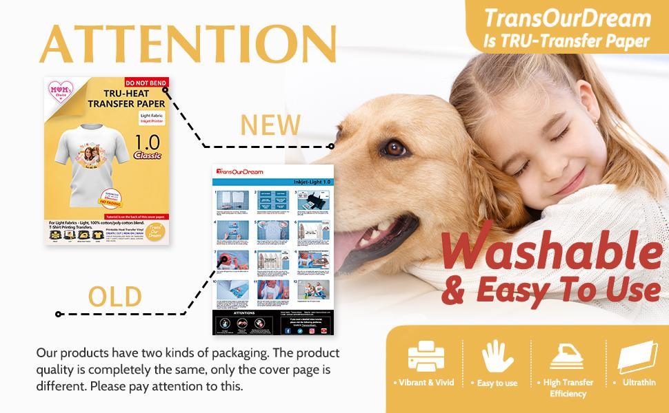 tru-transfer paper heat transfer paper