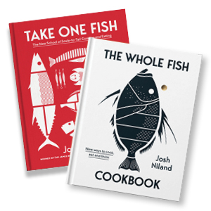 image of The Whole Fish Cookbook on top of Take One Fish cookbook