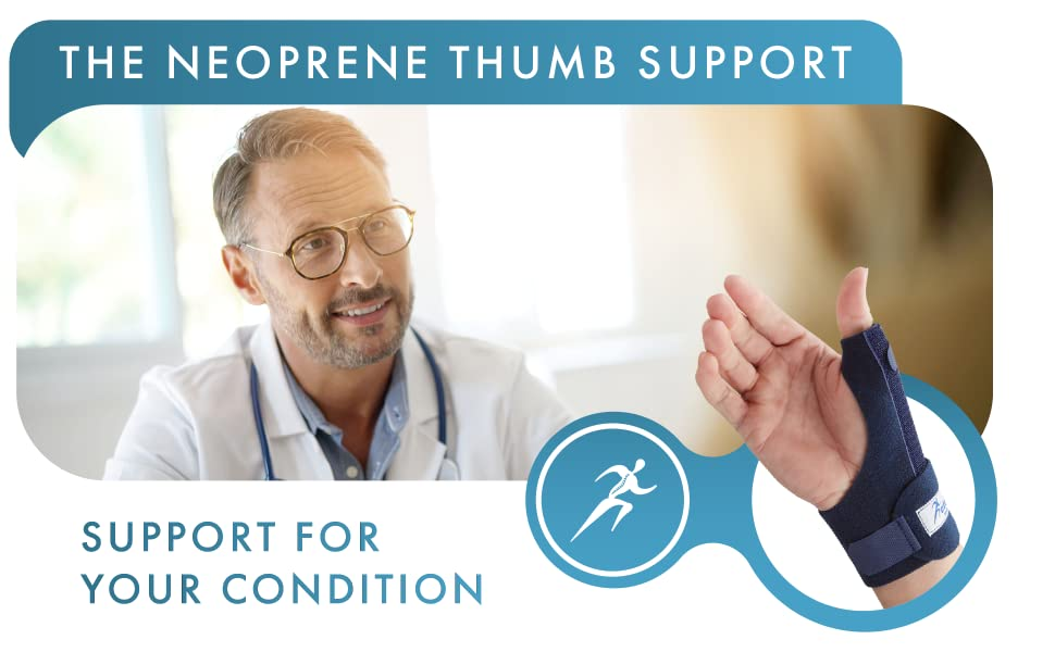 The Actesso Neoprene Thumb Support. Support for your condition.