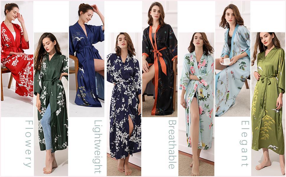 eight kimono robes of different original patterns