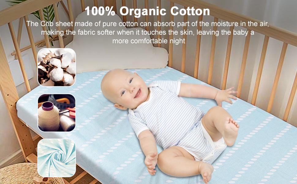 The Crib Sheet Made of 100% Organic Cotton