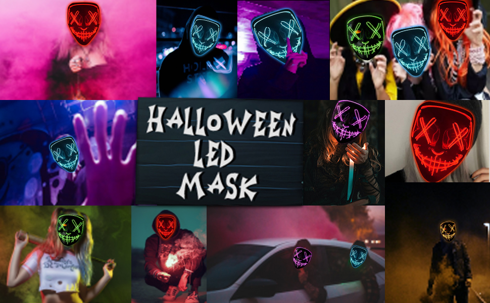 Halloween LED MASK Purg...e Clearance themed