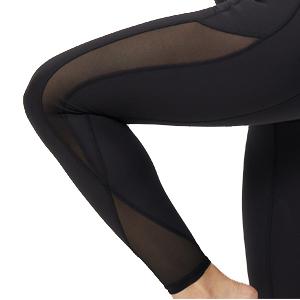 black mesh leggings with pockets