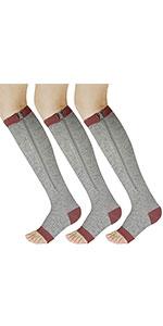 Open Toe Toeless Support Stockings