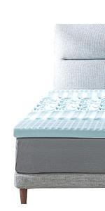 RECCI 2.5-Inch 5-Zone Memory Foam Mattress Topper