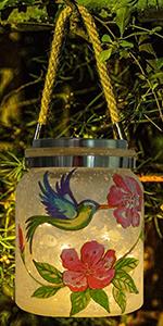 hummingbird solar lantern lights