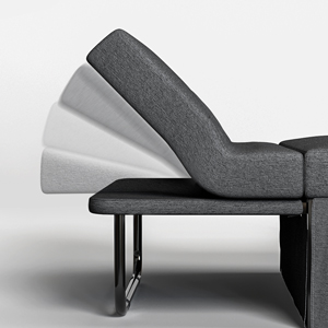 Serweet Convertible Sofa Bed, Dark Gray