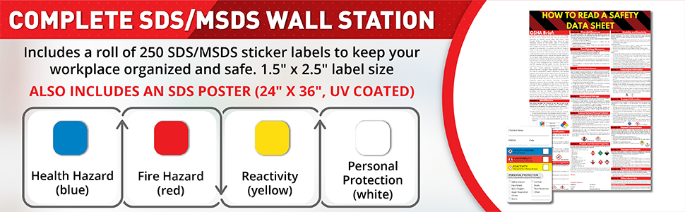 MSDS Labels MSDS STICKERS msds sign hardware sds wire rack compliance signs