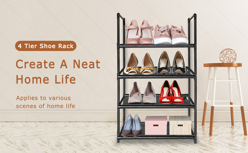tall narrow shoe rack